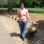 Ducklings statue