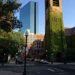 Old and new towers at Copley Plaza